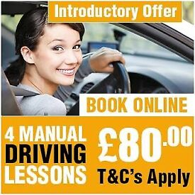 ** GREAT OFFER FIRST 4 MANUAL DRIVING LESSONS ONLY £80.00 AT AMDI DRIVING SCHOOL IN EAST LONDON**