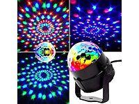 Disco DJ Stage Light Club Party Crystal Ball Effect RGB Rotating LED Lighting