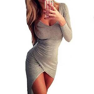 sexy women bodycon long sleeve party dress