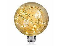 LED G95 String Bulb, E27 3000K Warm White 2W