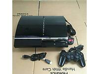 Ps3 console 80gb memory/ with controller and some good games/ cash or swaps