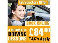 """GREAT OFFER ""FIRST 4 AUTOMATIC DRIVING LESSONS ONLY £84.00 "" DRIVING SCHOOL IN EAST LONDON"""