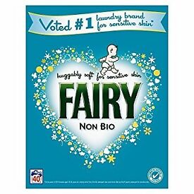 Unopened Fairy Non Biological Washing Powder - 40 Washes (2.6Kg)