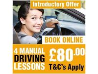 """""""GREAT OFFER """"FIRST 4 MANUAL DRIVING LESSONS ONLY £80.00 """" DRIVING SCHOOL IN EAST LONDON"""""""