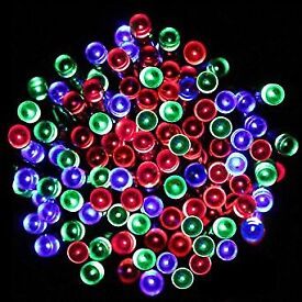 Christmas lights multicolored and Purple