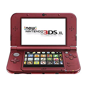 New Red 3DSXl  with 15 games + charger New