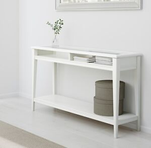 NEW - Console table, white, glass
