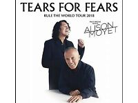 Tears for Fears tickets, 30th April, Glasgow, 4 Tickets - Will split into two pairs.