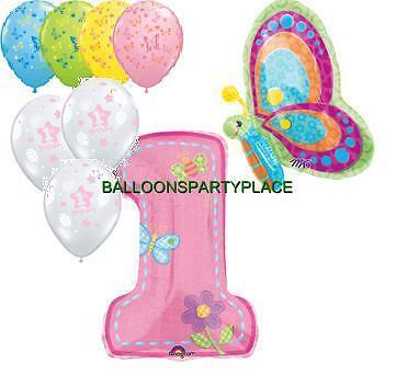 BUTTERFLY FIRST one butterflies birthday party supplies decorations 1st balloons on Rummage