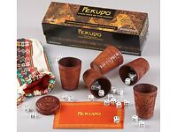 Leather Perudo Travel Game