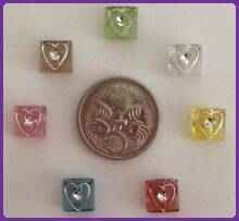 BEADS SQUARE HEARTS - MAKE YOUR OWN JEWELRY - GREAT FOR KIDS! St Albans Brimbank Area Preview