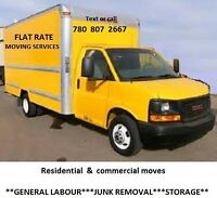 FLAT RATE RESIDENTIAL&COMMERCIAL MOVES & JUNK REMOVAL&DELIVERY