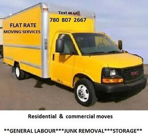 MOVING FOR FLAT RATES OR HOURLY PRICE