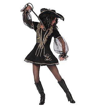Elegante Piratin Kostüm Sexy Damen Größe 38 Fasching - Sexy Elegante Kostüm