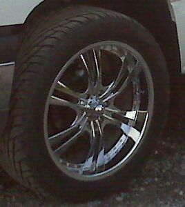 """22"""" Chrome Rims with Maxxis 305s"""
