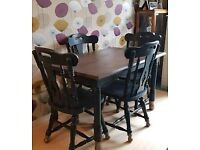 Dining Table and chairs with matching sideboard
