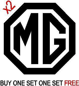 MG Logo x2 Decal / Sticker ZS ZR ZT MG3 MG6 TF  ( OFFER BUY ONE GET ONE FREE)