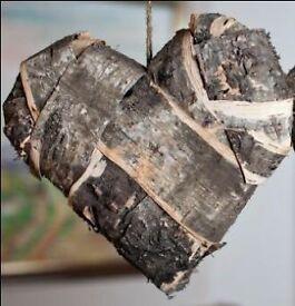 Large bark heart