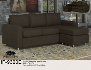 Popular style of sectional in Espresso