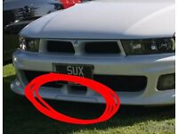 WANTED!! (not for sale) - galant sport/ 2.5 v6 front bumper trim breakers spares parts