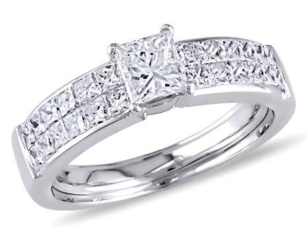 Amour 1 1/4 Diamond TW Engagment Ring in 18K White Gold