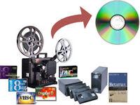 Transfert de vieux souvenirs au numérique(DVD, Bluray, USB)