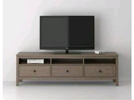 Ikea Media Tv Unit With 3 Drawers And Shelves In Solid Wood