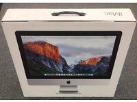 """iMac 21.5"""" EMPTY Box including Polystyrene Inserts."""