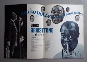 Louis Armstrong programme 1964 Autographié West Island Greater Montréal image 3