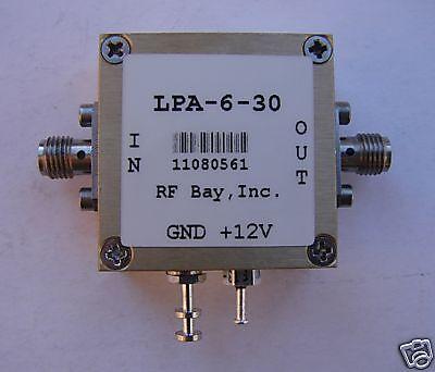 0.3-6500mhz Wideband Rf Amplifier Lpa-6-30 New Sma