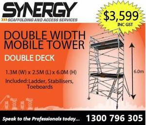 Aluminium Mobile Scaffold Platform (1.3m x 2.5m x 6.2m) Revesby Bankstown Area Preview