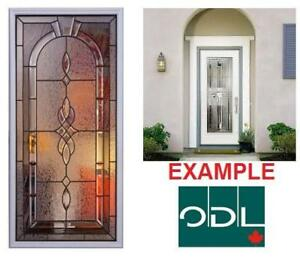 NEW ODL ENTRY DOOR GLASS - 126672074 - White Frame