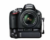 Nikon D5300 D5200 D5100 Multi-Power DSLR Battery Grip+Adaptor