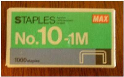 1box 1000ct. Max Mini Staples Fits Swingline Tot 50 -new In Box Fast Shipping