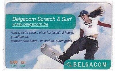 Belgique - Belgacom Scratch & Surf - Skate 3 € - Mint/Neuve