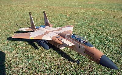 "1/10 Scale F-15 EAGLE scratch build R/c Plane Plans 51.3""wingspan DUCTED FAN"