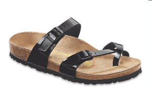 Birkenstock-Womens-Mayari-Black-Patent-Leather-Birko-Flor-Sandal-7109