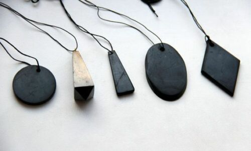 Shungite Stone Pendant Genuine Mineral EMF Shield Protection Amulet from Russia