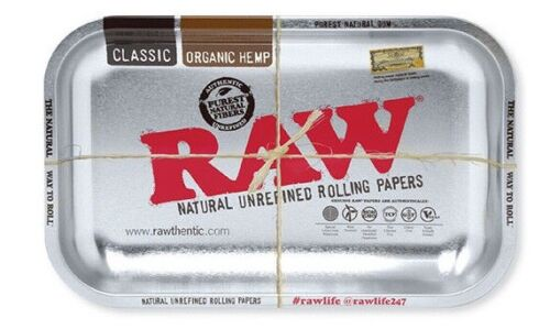 RAW SILVER Rolling Tray 11x7 NEW 2019 LIMITED Edition- RAWthentic!
