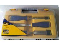 Irwin Marples MS500 Soft Touch Bevel Edge Chisel - 3 Piece Set