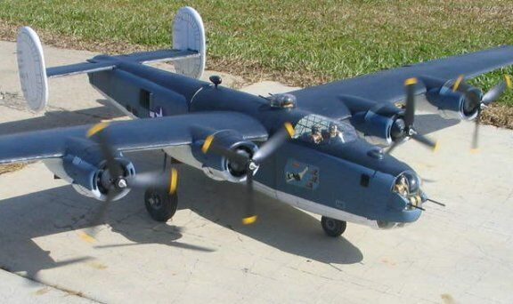 """B-24  Liberator 110""""  Giant Scale RC AIrplane Printed Plans & Templates"""