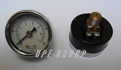 Pressure Gauge 1.5 Face 18 Npt Back Mount 0-100 Psi Air Compressor Hydraulic
