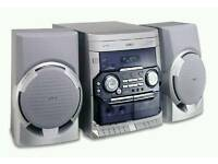 Philips hifi Cd and cassettes player with speakers and remote