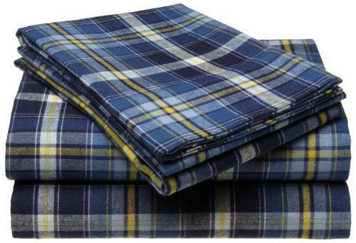 Plaid Flannel Sheets Queen Ebay