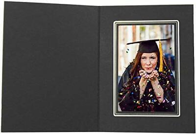 Cardboard Photo Folder for a 4x6 Photo Pack of 100 Black Color