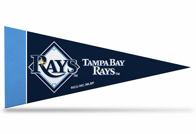 "Tampa Bay Rays MLB Mini Pennant 9""x4"", New, Felt, Made in USA Flag Banner"