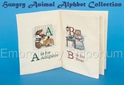 Hungry Animal - HUNGRY ANIMAL ALPHABET COLLECTION - MACHINE EMBROIDERY DESIGNS ON CD