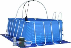 iPool Deluxe Above Ground Exercise Swimming Pool with Heater