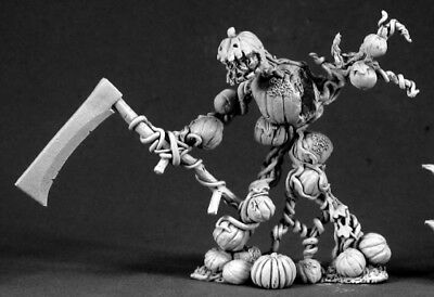Reaper Miniatures Rotpatch, Pumpkin Golem #03377 Dark Heaven Unpainted Metal