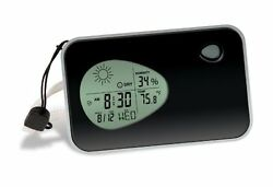 Travel Alarm Clock Digital Weather Thermometer Display Temperature Date Pocket